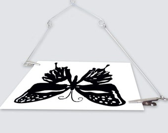Black and White Animal Art Cards with stainless mobile-Montessori inspired baby gift