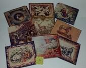 K 9 antique Victorian images illustrations paper cuts cut outs old paper art supplies vintage