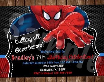 Spiderman Birthday Invitation (SM02)