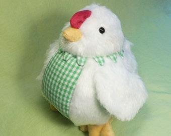 White Plush Chicken Toy