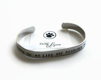 The Best Times of My Life Unisex Bracelet - Aluminum, cuff, animallovers, rescue jewelry, doglovers, animal rescue, The Artisan Group