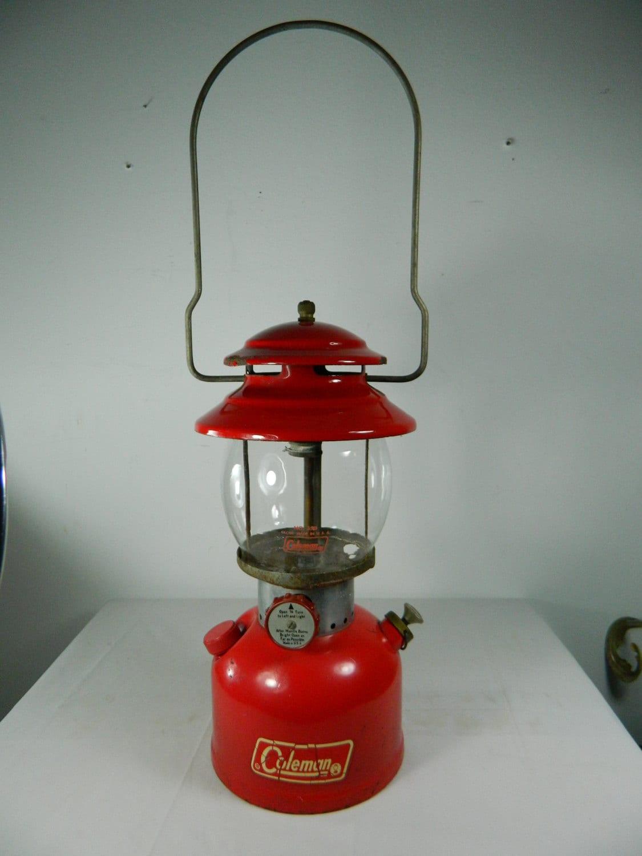 Vintage Red Coleman Lantern 200a Camping Lantern 1972