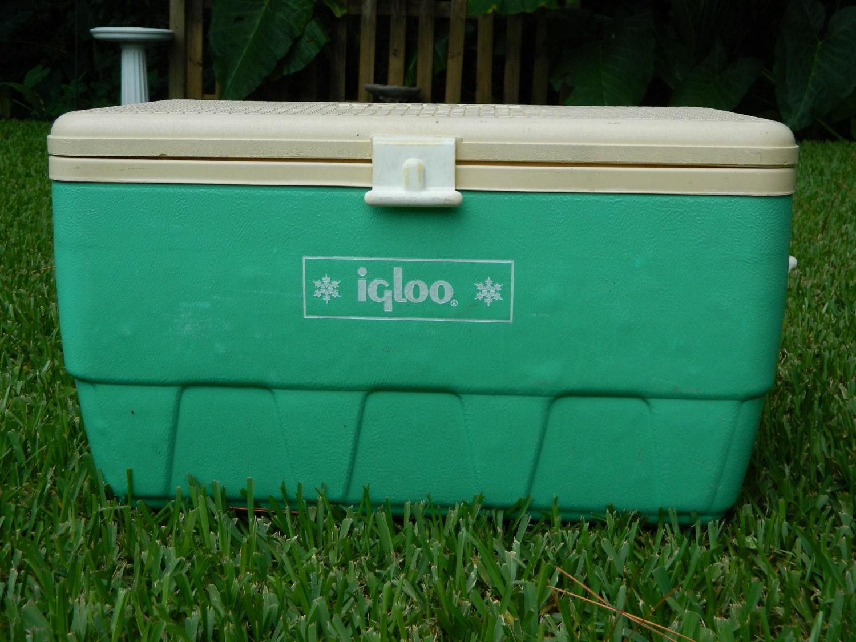 Vintage igloo cooler rare seafoam green retro cooler - Igloo vintage ...