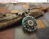 SUMMER SALE Boho Leather Magnesite Small Necklace