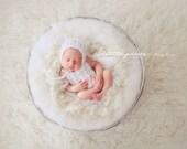 PDF Crochet Pattern - newborn photography prop Tatiana_crochet romper and bonnet SET #131