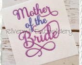 Mother of the Bride Machine Embroidery Word Design - 3 Sizes