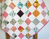 Baby quilt, cot pram quilt, stroller quilt, baby shower gift, gender neutral, multicolor