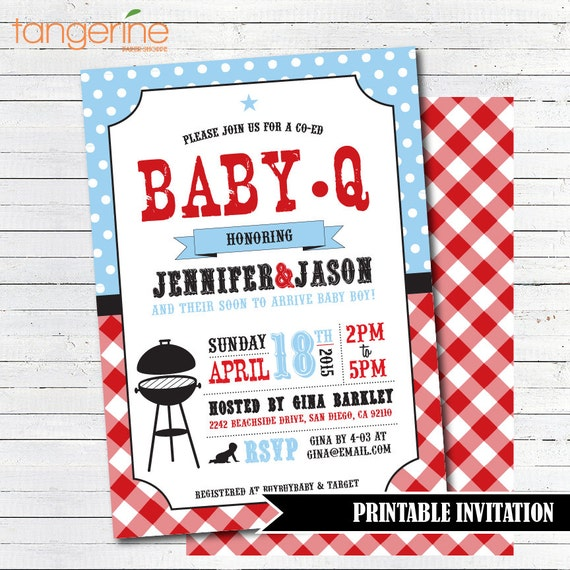 baby q shower invitation bbq baby shower invitation couples baby