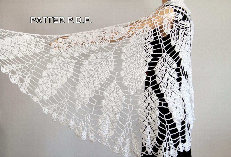 Crochet Lace Wedding Shawl Pattern : Crochet shawl pattern Wedding shawl Wrap shawls Wedding wrap