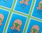 Vintage Playing Cards Ziggy Tom Wilson Diamonds Hearts Spades Clubs Card Making Scrapbooking Assemblage 70s Retro Ephemera Blue Trading Card