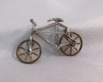 Vintage c1970's Taxco Sterling Bicycle Brooch