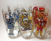 6 Burger King glasses from the 1980's