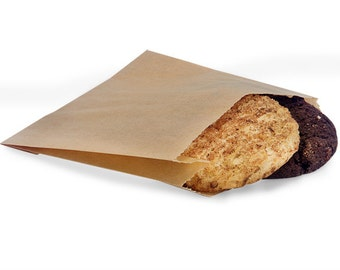 "You Choose the Quantity! 5"" x 4-1/2"" Natural Kraft Bakery Paper Sleeves Treat Bags (Free Shipping!)"