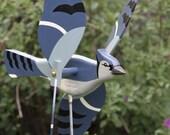 Blue Jay Whirligig, Bird, Garden Decor, Whirlygig, Whirligig
