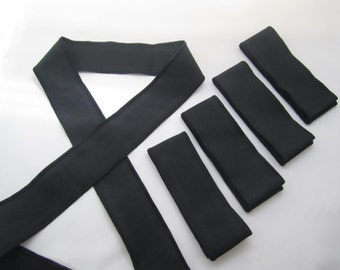Set of 5- Black Headbands