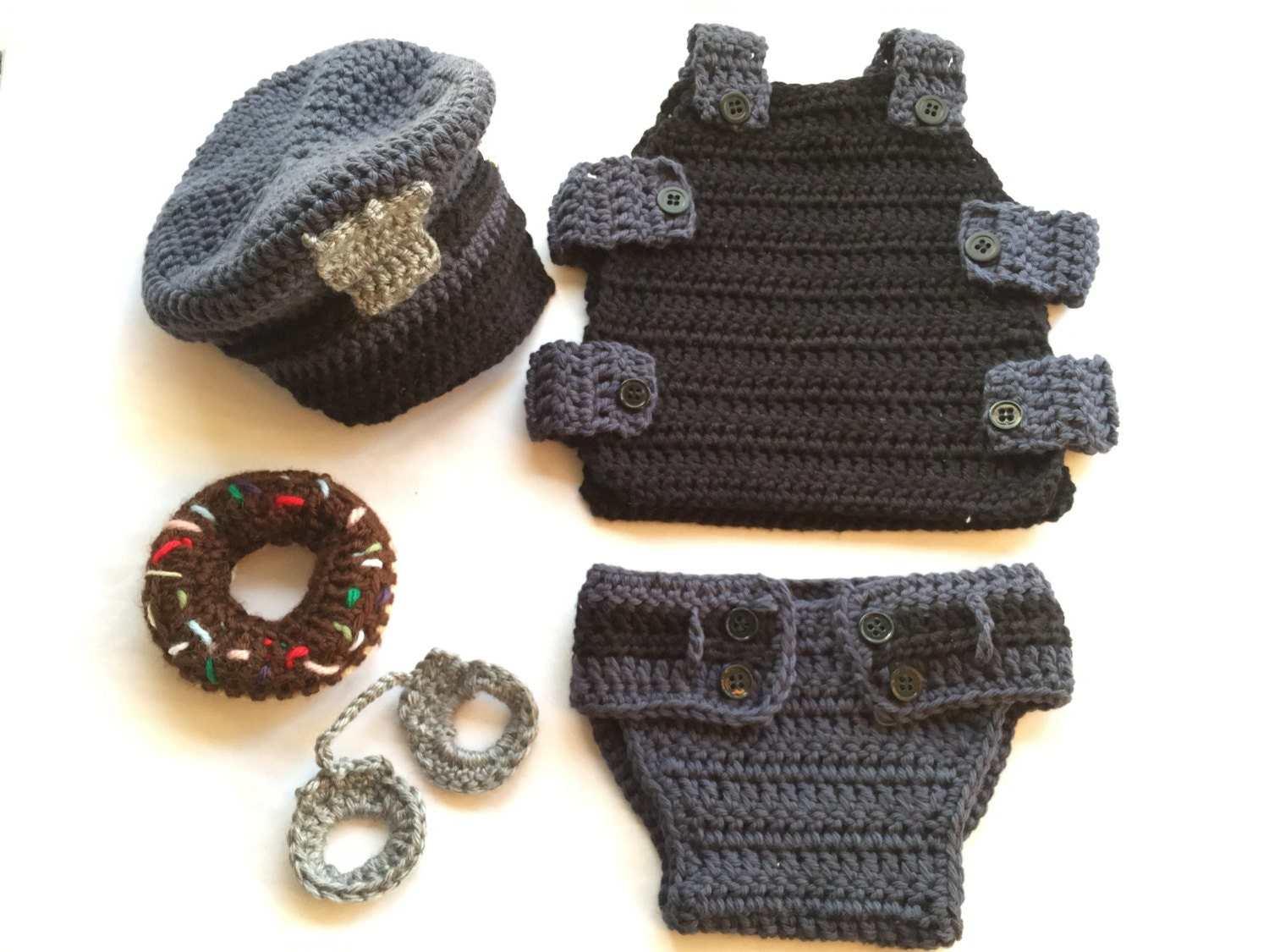 Crochet Baby Policeman Pattern Baby Policeman Outfit Pattern Police Officer Costume Policeman