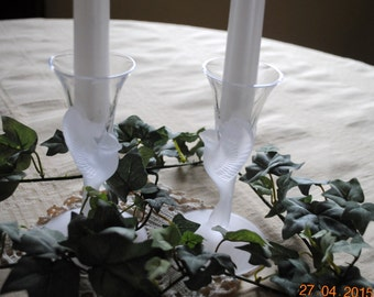 A Pair of Wings Candle Holders by Sasaki