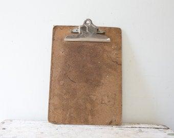Long Wooden Vintage Wood Clipboard