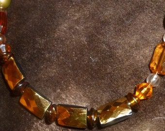 SALE-MARKED DOWN-Golden Amber Necklace