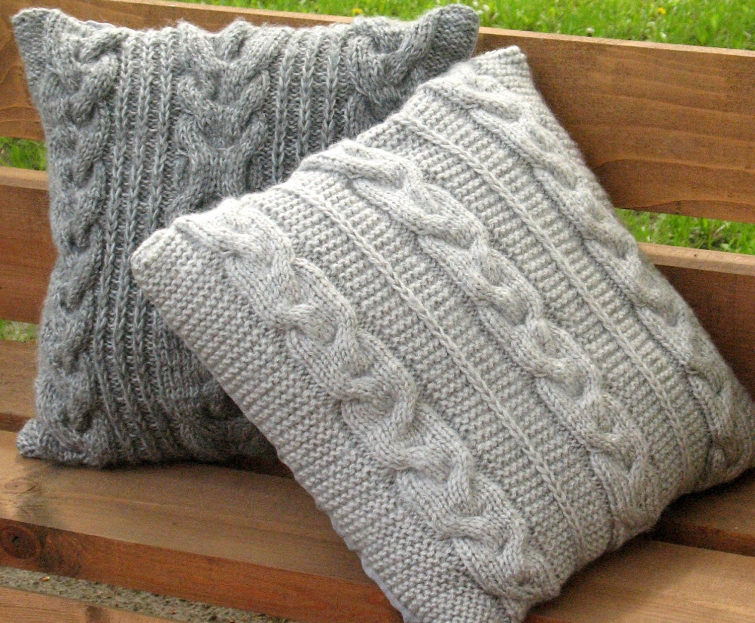 Mohair Cushion Knitting Pattern : Throw Pillow Decorative Cushion Covers Hand knitted design