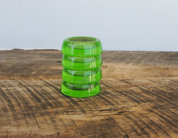 Vintage Furniture Coasters Green Depression Glass Hazel Atlas