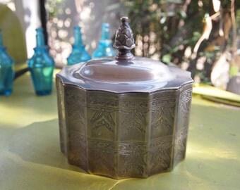 Silver Dish, Godinger Silver Dish, Silver Home Decor, Trinket Box, Small Jewelry Box, Silver Catch All