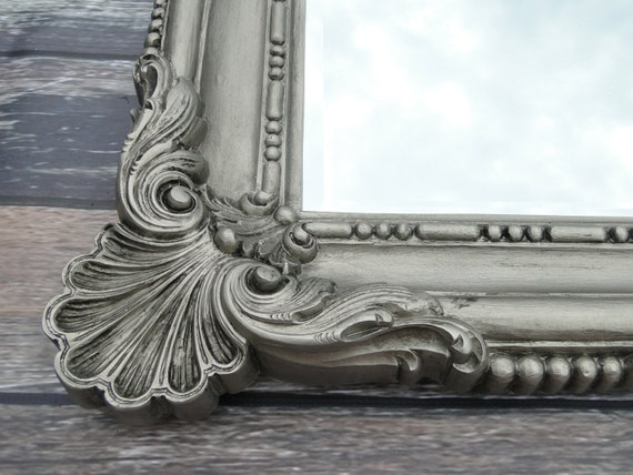 Extra Large Ornate Vintage Mirror Wall Mirror Silver Ornate