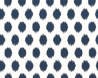 Navy JoJo Ikat Curtains Choose 25 inch or 50 inch wide - 63 84 90 96 108 120 Long