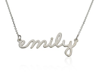 Tiny Name Necklace Personalized Name Necklace 925 Sterling Silver - Choose Any Name