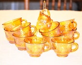 Gold Carnival Glass Cup