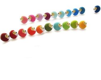 Rainbow hedgehog magnets for your kitchen or office gift set of 8 in a tiny tin.