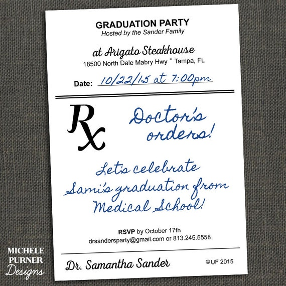 Items similar to Medical Field Graduation Party Invitation ...