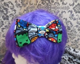 Kawaii/Chibi Avengers Double Layer Hair Bow/Bowtie/Headband