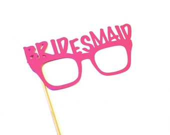 Photo Booth Props - Bridesmaid Glasses - Weddings - Photobooth Props