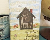 What I love about my home is who I share it with - 5x7 Greeting Card - Blank inside