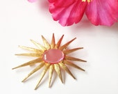 Pink Jelly Belly Brooch Retro Mad Men Glamour Fashion Jewelry