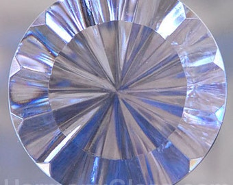 Fluted Clear Stained Glass Jewel 35mm