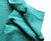 cotton double gauze fabric. soft japanese pure cotton fabric. 102cm (40in) wide. sold by 50cm (19in) long / half yard. blue green