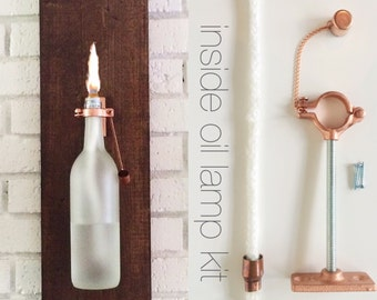Wall Sconce Lamp Kit : 4 HARDWARE ONLY Wine or Beer Tiki Torch kits DIY Outdoor