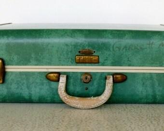 Samsonite Suitcase Emerald Green Vintage Marbled Bermuda Luggage