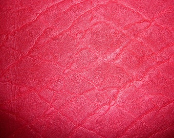 """Leather 12""""x12"""" ELEPHANT HOT Pink Distressed Embossed Cowhide 2.5-3oz/1-1.2 mm PeggySueAlso™ E2899-09 Limited"""