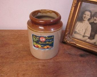 Fabulous Vintage Crock Pot. Ogilvie & Moore Ltd. Cork Strawberry Jam Preserve Crock pot.