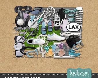 Ladies Lacrosse Digital Scrapbook Kit