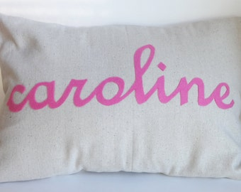 Name pillow cover cursive, personalized pillow, nursery pillow, baby pillow, kid name pillow, nursery decor, baby name pillow, custom pillow