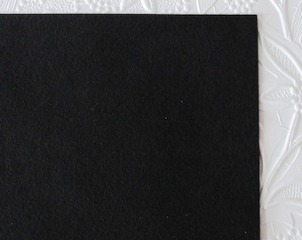 Black Onyx Ultrasuede Fabric for Bead Embroidery 8.5x8.5 square Microsuede