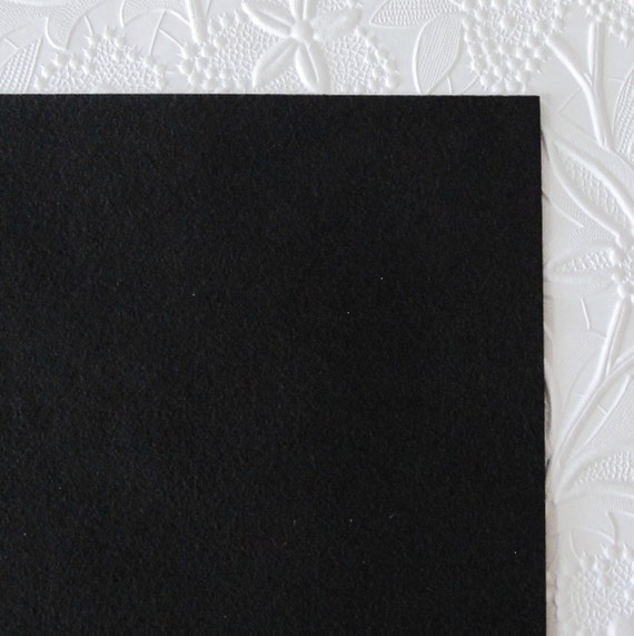 Black ultrasuede fabric bead embroidery square