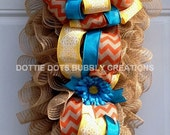 Jute Mesh Ruffled Door Wall/Swag Wreath