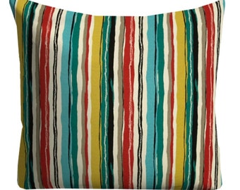 outdoor pillows, striped outdoor pillows, red blue striped pillows, outdoor pillow covers, striped pillow covers, big outdoor pillow covers