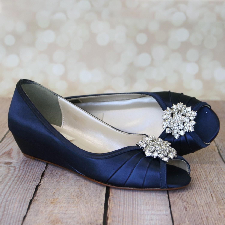 Blue Wedding Shoes Navy Blue Shoes Custom Wedding Shoes