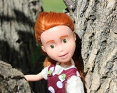 Brooke - Red head  upcycled, under made doll